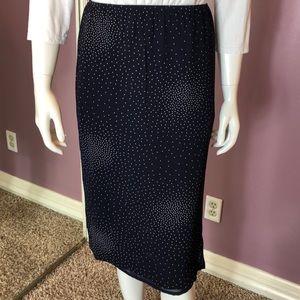 Vintage ESPRIT Sheer Polka Dotted Pencil Skirt
